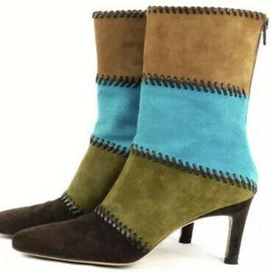 !NEW! Salvatore Ferragamo Leather Suede Boots 8.5B